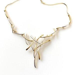 Viennois Necklace gold tone and silver tone